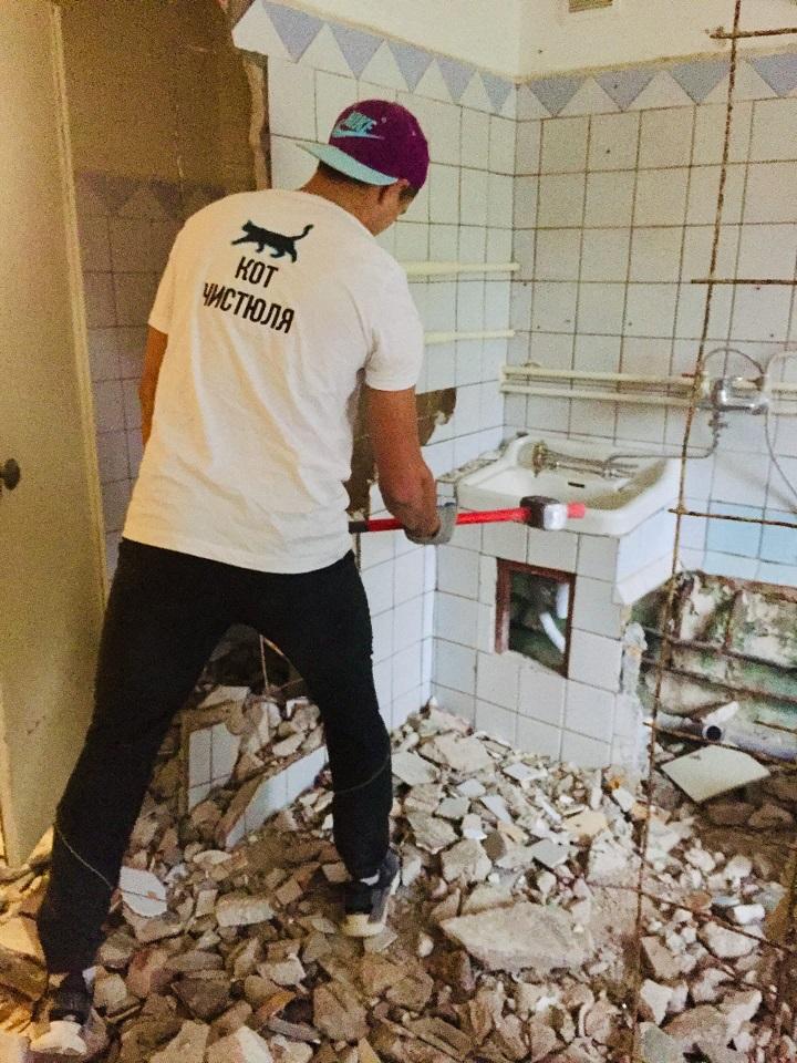 Демонтаж стяжки пола в р-не «Артбухта» в Севастополе - Компания «Кот-Чистюля»