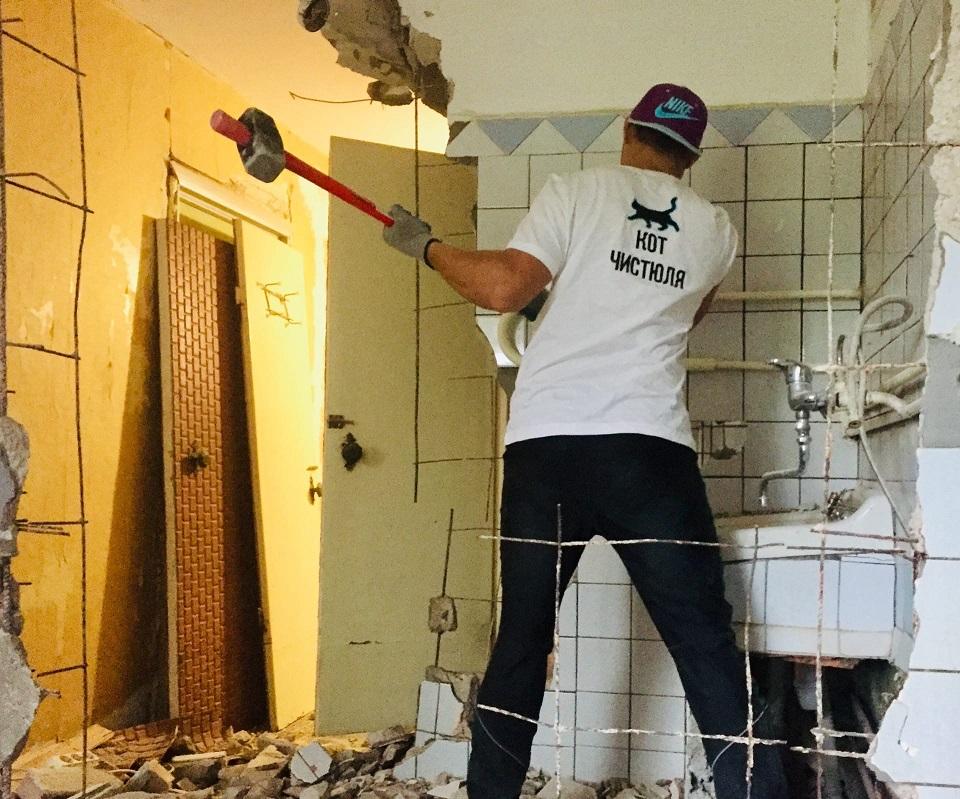 Демонтирование стяжки пола в долине реки Альма в Крыму - Компания «Кот-Чистюля»