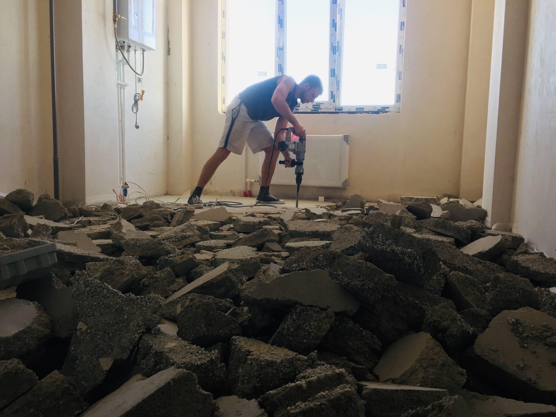Демонтаж стяжки пола в Севастополе - Компания «Кот-Чистюля»