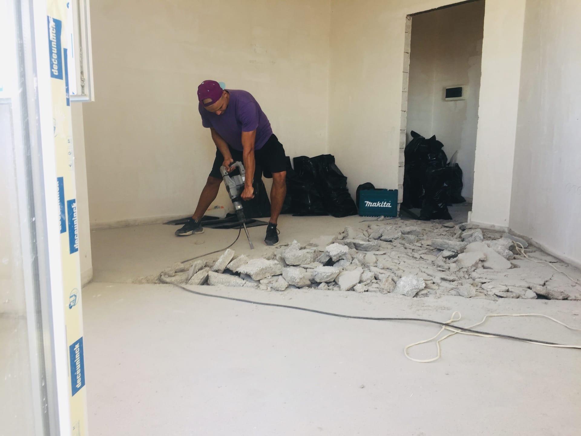 Демонтирование стяжки пола в Севастополе - Компания «Кот-Чистюля»