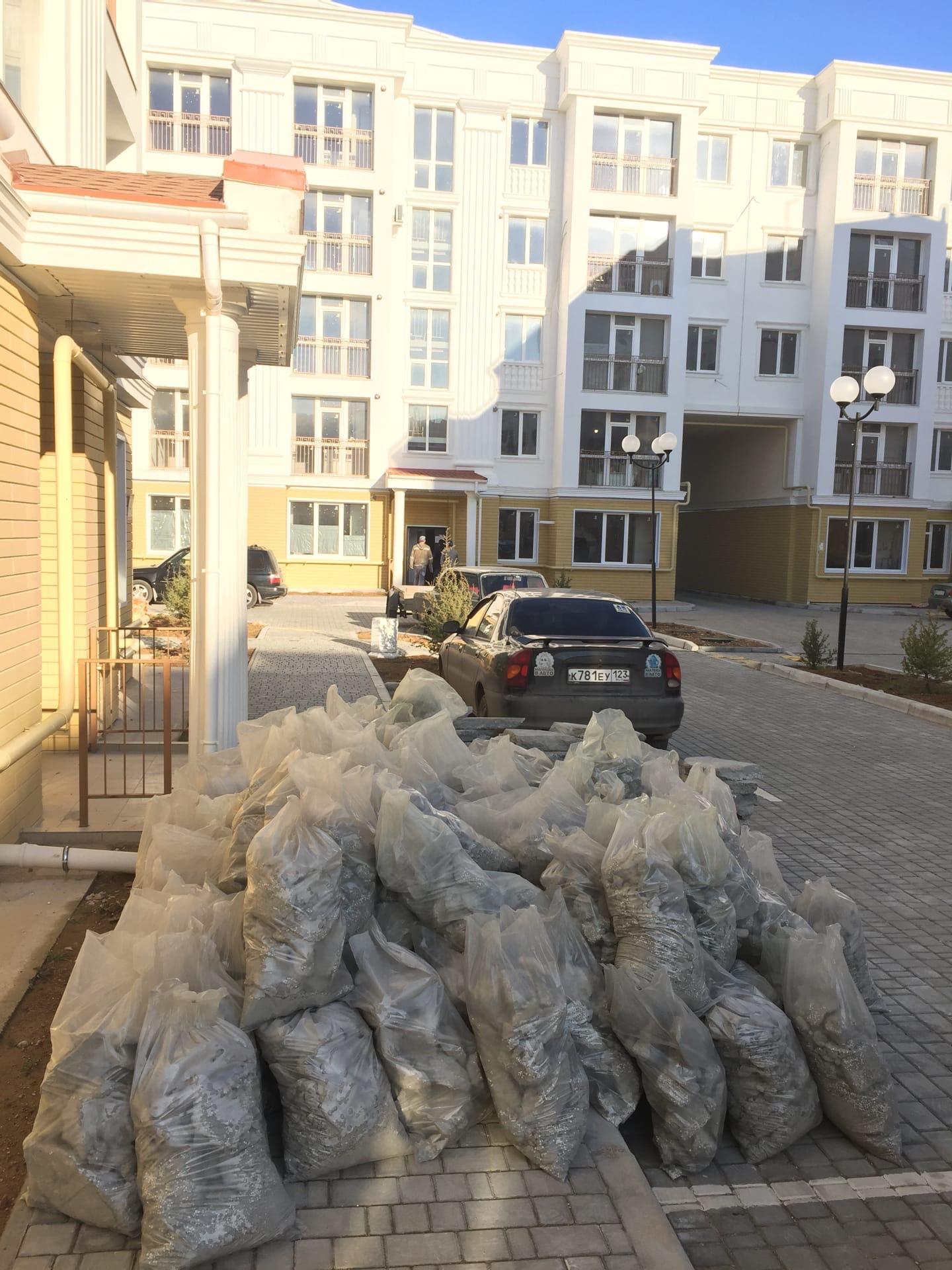 Вывоз мусора со стройки после ремонта в пос. Симеиз в Крыму - Компания «Кот-Чистюля»